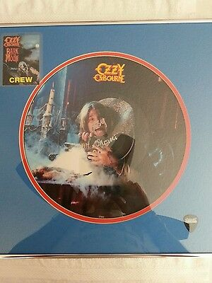 Ozzy Osbourne   Handsigned Framed Picture Disc  With Extras