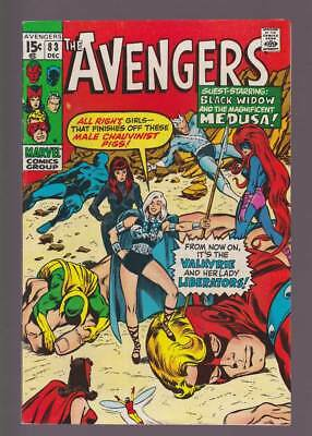 Avengers # 83  First app. of the Lady Liberators  !  grade 7.5 scarce book !