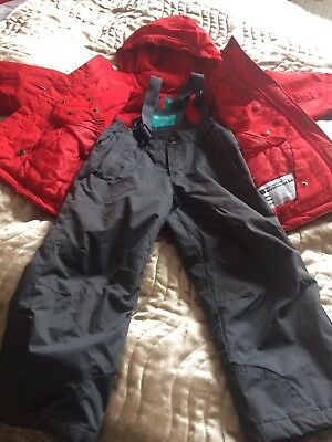 Snowboarder, Ski Jacket And Salopettes For Age 3-4 Years
