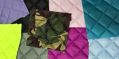 Quilted Fabric Waterproof 4oz BOX Design Sold By The Metre FREE DELIVERY!!