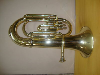 DAZZLING!NEW Golden-Finish Bb Euphonium With Free Hard Case+M/P+FREE SHIPPING