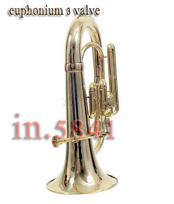 Euphonium Brass Finish Bb Pitch_Good Sound W/case&mp Tubantnice.soundfullybrass