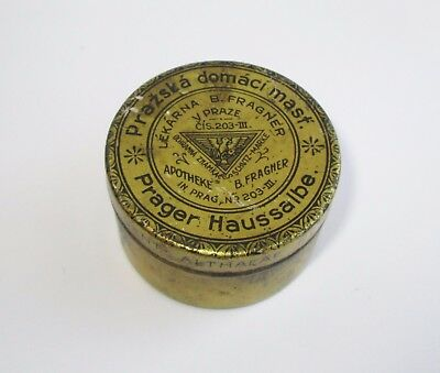 c1860 ANTIQUE B.FRAGNER Schutz-Marke PHARMACY APOTHECARY MEDICINE TIN CASE
