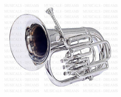 Sale Euphonium Bb/f Pitch New 4 Valve Silver Nickel Plated Student Pro Euphonium