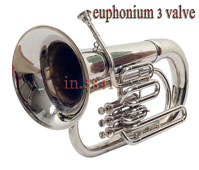 "New Euphonium""bb-Valve-Chrome_Finish-W^case-Mp-Awesome-Sound-Tuba-Sousaphone-Bra"