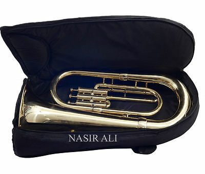 Warehouse Sale Band Certified Nasir Ali Euphonium Pro Brass Finished+Bag+Mp+Ss