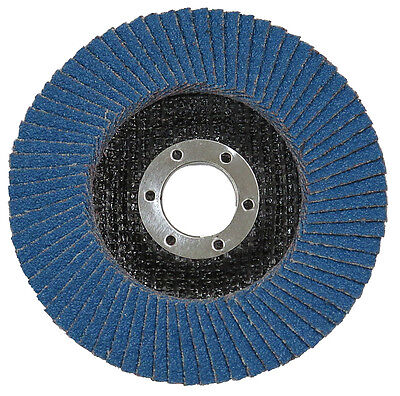 100 Flap Discs Zirconium Grade 40 115mm. Generous Flaps. Trade Pack