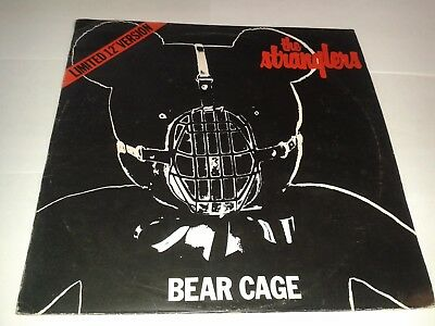 """The Stranglers – """"Bear Cage""""  12"""" (1980) EX / Rare Limited Picture sleeve  CAT9"""