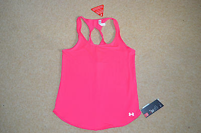 womens ladies under armour tank top,vest running gym, pink uk size 8 / XS
