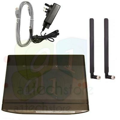used HUAWEI B315 S-22 FACTORY UNLOCKED 4G LTE Router + 2 x EXTERNAL ANTENNA