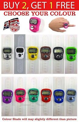 Digital Electronic Finger Ring Hand Tally Counter Tasbee Tasbih Row Counter