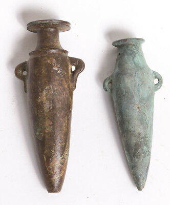 2 Ancient Holy Land Canaanite Bronze Vessels c.1500 BC.