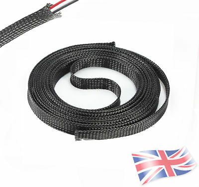 Braided Sleeving - Expandable Black Braided Flexible Cable Sleeving Harness