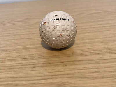 Vintage North British Mesh Golf Ball