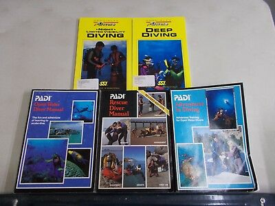 4 Scuba Diving Night Limited Visibility Deep Open Water Rescue Manual
