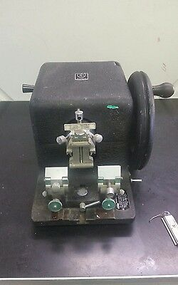 AO Spencer American Optical Model 820 Rotary Microtome with Blade Holder & Blade