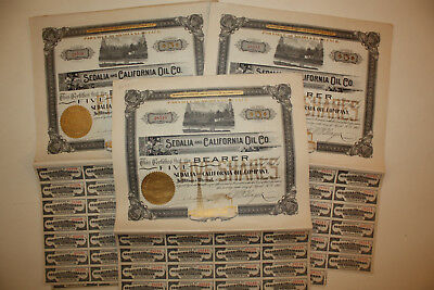Sedalia And California Oil Company Action De 5$ 1902 X 10 Actions