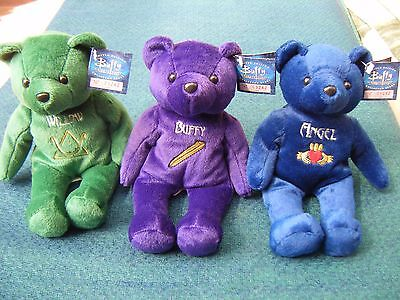 Buffy the Vampire Slayer Beanie Bears Angel Willow and Buffy with tags