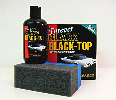 Forever Black Black-Top - 236ml with Applicator, Vinyl, Convertible, Convertable