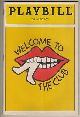 """Welcome To The Club"" Playbill 1989 Cy Coleman"