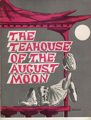 """Red Buttons Souvenir Program  """"Teahouse of the August Moon"""" 1959 Stock"""