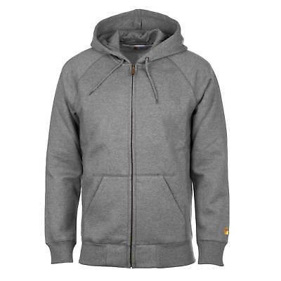 6559749680d26 CARHARTT WIP HOODED Chase Zipper Sweatjacke grau dark grey heather ...