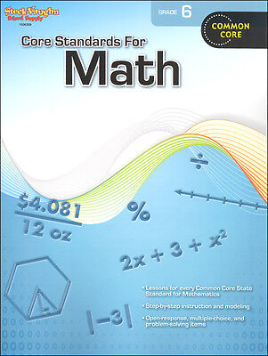 Grade 6 Core Standards for Math Workbook +Answer Key Common Core Curriculum 6th