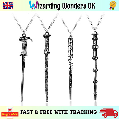 Harry Potter Wand Necklace Hermione Dumbledore Voldemort Long Chain Gift UK