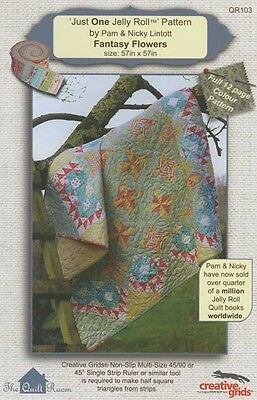 Just One Jelly Roll Pattern Fantasy Flowers Pam And Nicky Lintott