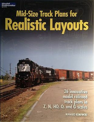 """Kalmbach Book """"Mid-Size Track Plans for Realistic Layouts"""" # 12424"""