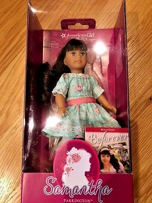 "American Girl SAMANTHA 6"" Special Edition Mini Doll with book and stand"