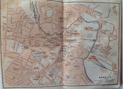 Newcastle On Tyne, Great Britain, 1910, Antique Vintage Street Map, Atlas