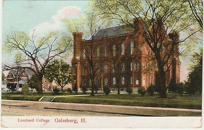 Lombard College Galesburg Illinois IL Postcard Divided Back