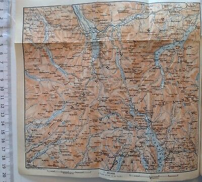 Westmorland, Lancashire, Great Britain, 1910, Antique Vintage Map, Atlas
