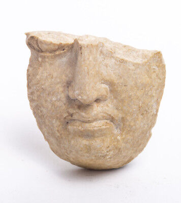 Ancient Greek Stone Face Fragment c.4th century BC.