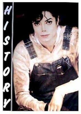 MICHAEL JACKSON ~ OVERALLS HISTORY 25x35 MUSIC POSTER King Of Pop