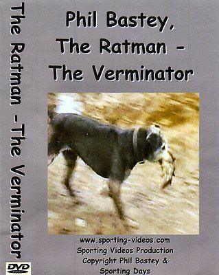 RATTING DVD - THE RATMAN - THE VERMINATOR - ratting,terriers,patterdale,whippet