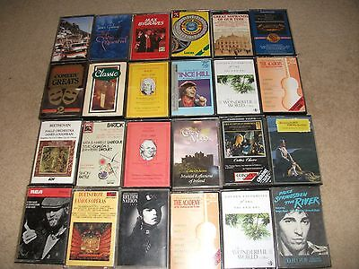 JOB LOT OF 24 x  MUSIC CASSETTES MAX BYGRAVES BACH JAMES GALWAY VINCE HILL ETC