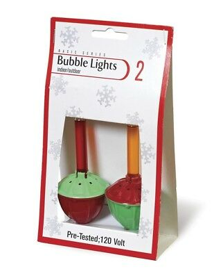 NEW Christmas Bubble Light Replacement Bulbs Pack of 2  Red and Yellow 693170