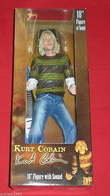 "Kurt Cobain Action Figure con sonoro 18"" Neca Nirvana New Sealed 2007"