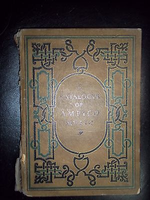* 1925 Ampico Catalog Of Old Music Piano Large Size Composer Photo Antique Book