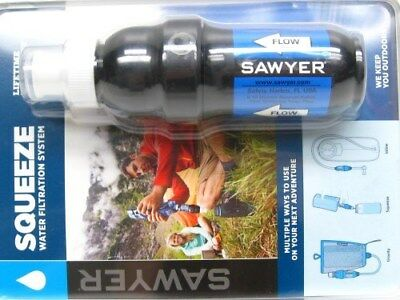 SAWYER Portable POINTONE Squeeze Water Filtration System + 3 Pouches! SP131