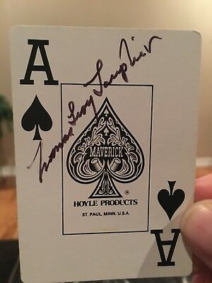 Yamamoto Mission ace Tom Lanphier signed ACE card - Very RARE