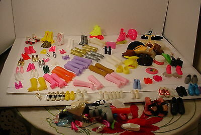 BARBIE and other Dolls Shoes Hats Boots Misc items Big lot