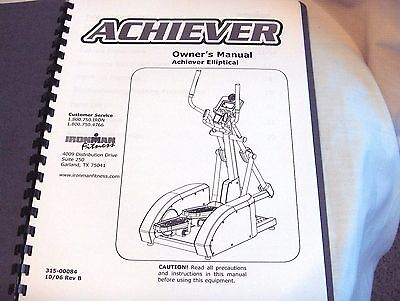 #1134 - Ironman Fitness Achiever Elliptical Machine Instruction Manual - New