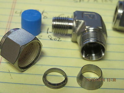 "1/2"" Compression Tube x 1/4"" NPT Male Elbow A-LOK Stainless Steel [C1S5]"