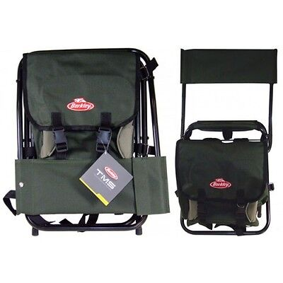 Berkley TMS Fishing Folding Chair With Back Rest & Tackle Storage + Free Post