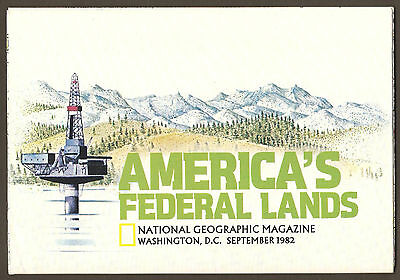 National Geographic Map - September 1982 - America's Federal Lands