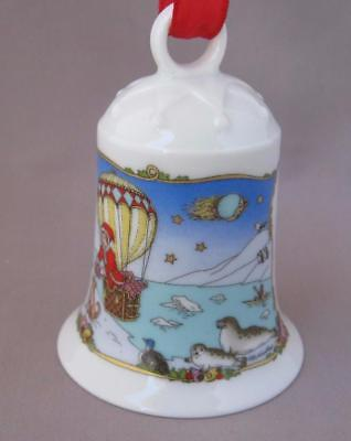 Hutschenreuther Thule Christmas Porcelain Bell Ornament Germany 2000