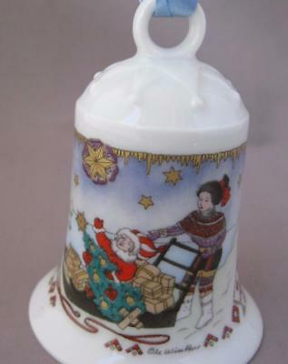 Hutschenreuther North Pole Christmas Porcelain Bell Ornament Germany 1991